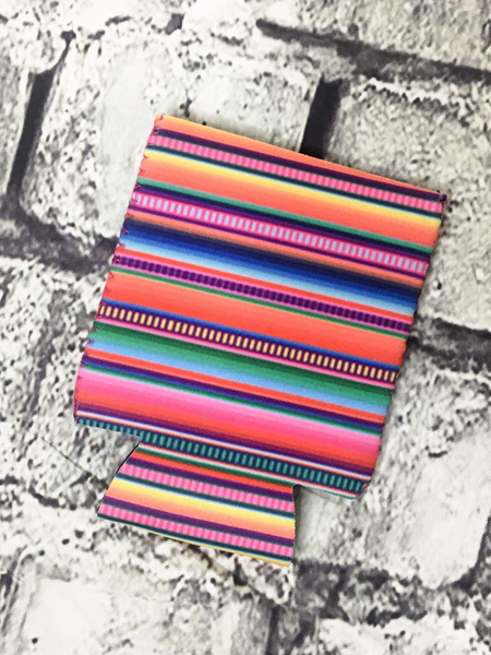 can cooler koozie coozie serape | shop women's clothing clothes apparel accessories and gifts online or in store at boerne pixie boutique | a favorite of locals and san antonio visitors too