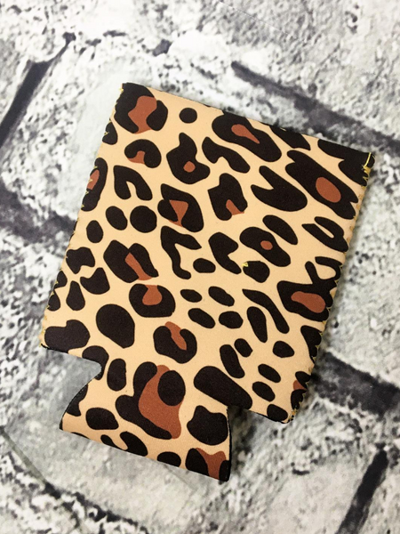 can cooler koozie coozie leopard print | shop women's clothing clothes apparel accessories and gifts online or in store at boerne pixie boutique | a favorite of locals and san antonio visitors too