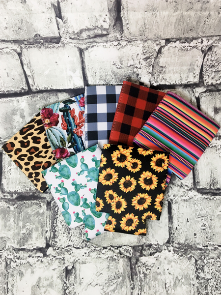 can cooler koozie coozie leopard sunflower cactus buffalo plaid serape | shop women's clothing clothes apparel accessories and gifts online or in store at boerne pixie boutique | a favorite of locals and san antonio visitors too