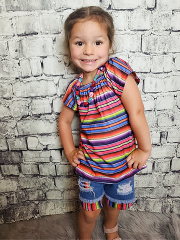 serape short set for toddler girls | shop girls clothing clothes apparel online or in store boerne pixie boutique | a favorite of locals and san antonio visitors too