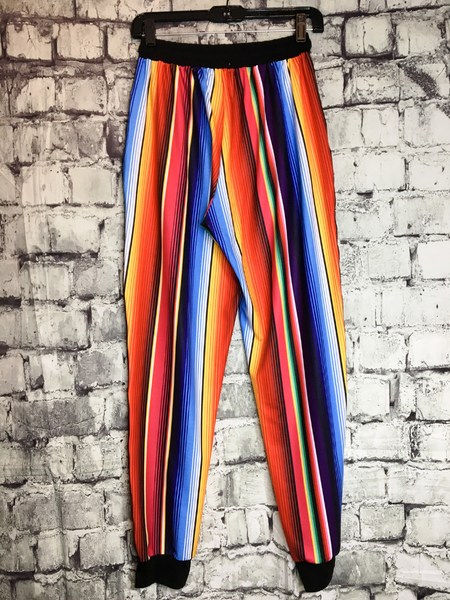 serape print striped joggers pants bottoms loungewear lounge wear | shop women's clothing clothes apparel accessories jewelry and gifts online or in store at boerne pixie boutique | a favorite of locals and san antonio visitors too | top best boerne boutiques