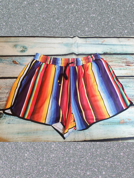 san antonio serape shorts multi-colored bottoms pajamas pj's lounge wear | shop women's clothing clothes apparel accessories and gifts online or in store at boerne pixie boutique | a favorite of locals and san antonio visitors too