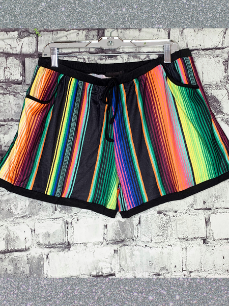 free spirit serape shorts bottoms | shop women's clothing clothes apparel online or in store at boerne pixie boutique | a favorite of locals and san antonio visitors too