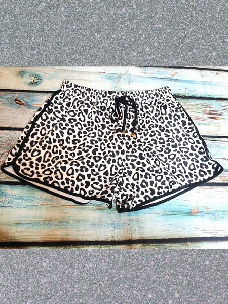 black white leopard print shorts bottoms pajamas pj's lounge wear | shop women's clothing clothes apparel accessories and gifts online or in store at boerne pixie boutique | a favorite of locals and san antonio visitors too