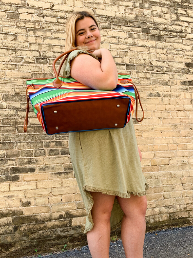 serape multicolored large tote bag handbag purse beach bag diaper bag | shop women's clothing clothes apparel online or in store at boerne pixie boutique | a favorite of locals and san antonio visitors too