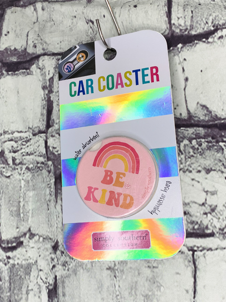 rainbow design simply southern car coasters for cup holders | shop women's clothing clothes apparel accessories and gifts online or in store at boerne pixie boutique | a favorite of locals and san antonio visitors too