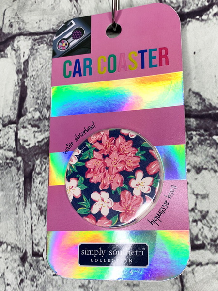 floral design simply southern car coasters for cup holders | shop women's clothing clothes apparel accessories and gifts online or in store at boerne pixie boutique | a favorite of locals and san antonio visitors too