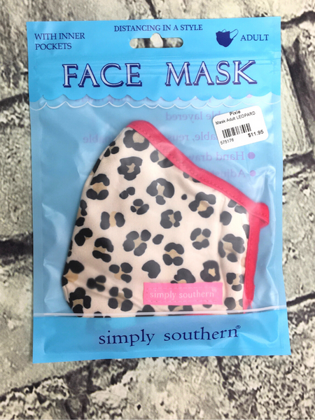 brown black tan pink red leopard print simply southern women's adult sized face masks | shop women's clothing clothes apparel accessories and gifts online or in store at boerne pixie boutique | a favorite of locals and san antonio visitors too
