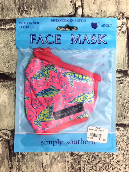 pink red blue green turtle tortoise simply southern women's adult sized face masks | shop women's clothing clothes apparel accessories and gifts online or in store at boerne pixie boutique | a favorite of locals and san antonio visitors too