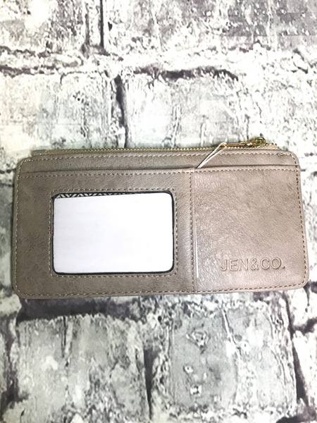 stone brown gray credit card wallet | shop women's clothing clothes apparel accessories jewelry and gifts online or in store at boerne pixie boutique | a favorite of locals and san antonio visitors too