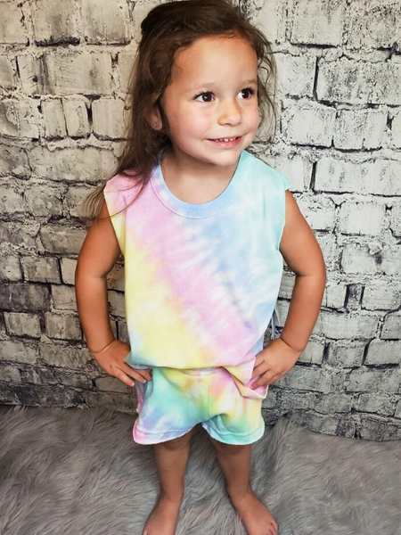 girls youth kids tie dye outfit top shirt blouse shorts | shop girls clothing clothes apparel accessories and gifts online or in store boerne pixie boutique | a favorite of locals and san antonio visitors too