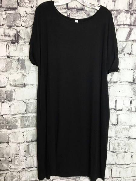 tee shirt dress plus size women's clothing apparel clothes boerne pixie boutique shop online or in store