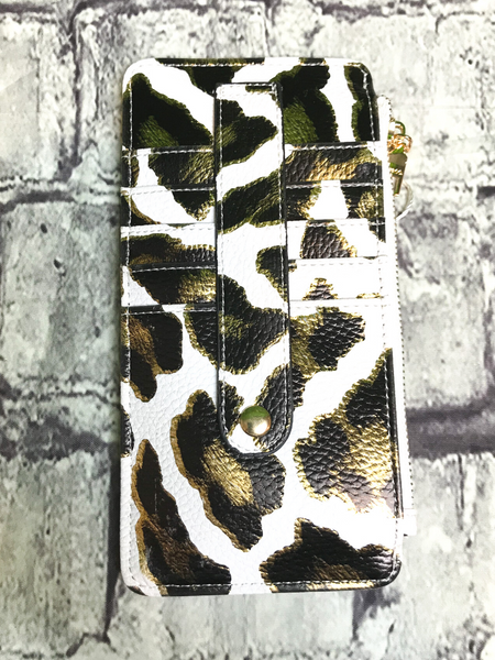 black white gold leopard print credit card wallet | shop women's clothing clothes apparel accessories jewelry and gifts online or in store at boerne pixie boutique | a favorite of locals and san antonio visitors too