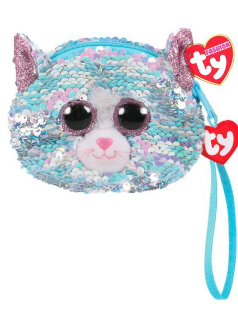 Sequin Wristlet Whimsy Cat