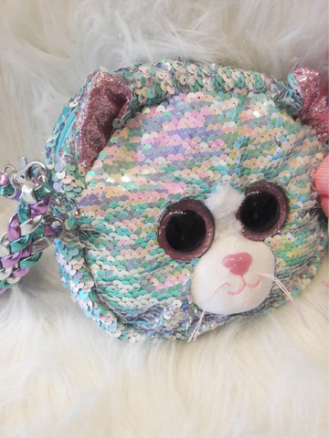 Sequin Purse Whimsy Cat