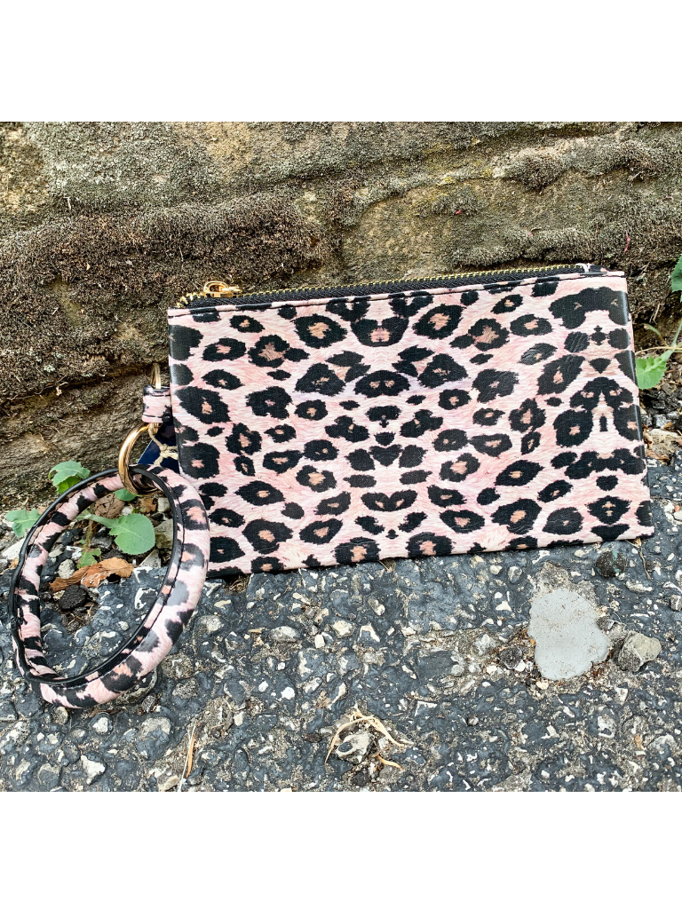 leopard animal print bangle wristlet handbag purse clutch | shop women's clothing clothes apparel accessories and gifts online or in store at boerne pixie boutique | a favorite of locals and san antonio visitors too