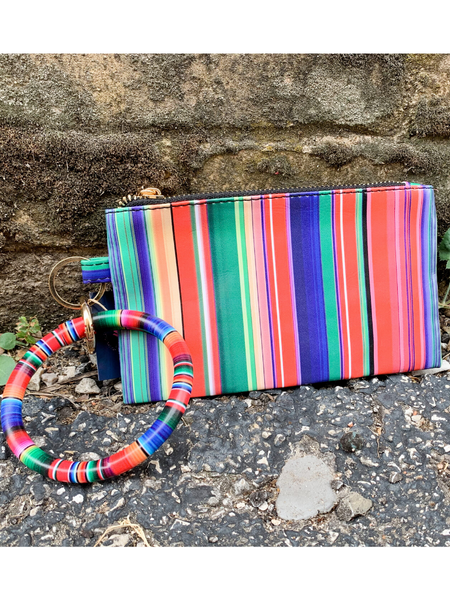 stripe serape bangle wristlet handbag purse clutch | shop women's clothing clothes apparel accessories and gifts online or in store at boerne pixie boutique | a favorite of locals and san antonio visitors too