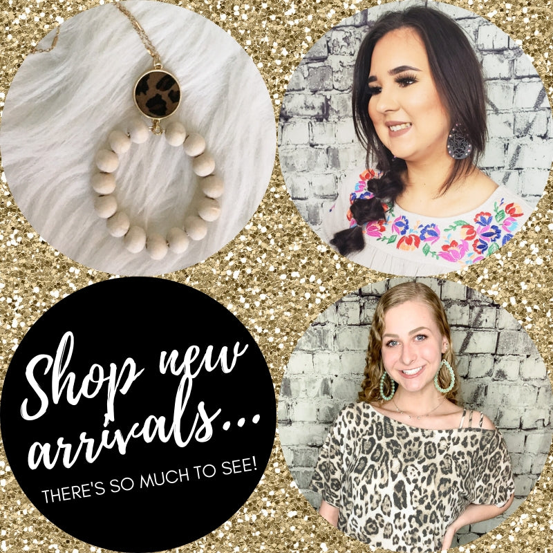 Shop new arrivals in women's and girls' clothing, jewelry, and accessories at Boerne's Pixie boutique. Shop online or in store!