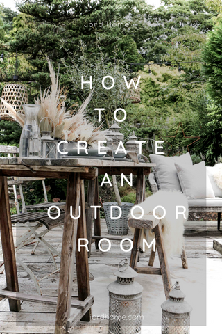 how to create an outdoor room - rugs for outside.