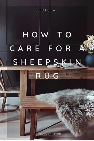 Caring for natural sheepskin rugs