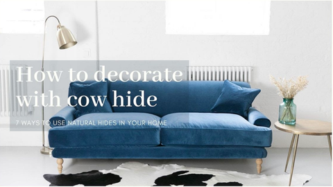 How to decorate your home with cow hide rugs