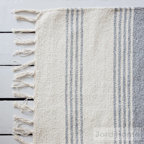 Evá Stripe Rug 100% cotton close up