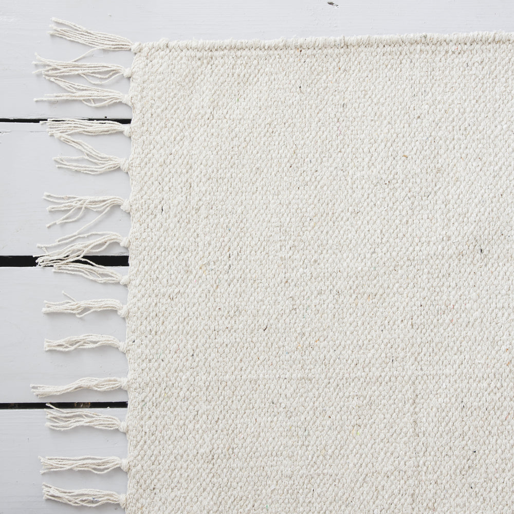 Scandi Rug White Cotton Rug