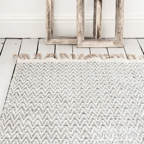 Isá Chevron cotton rug