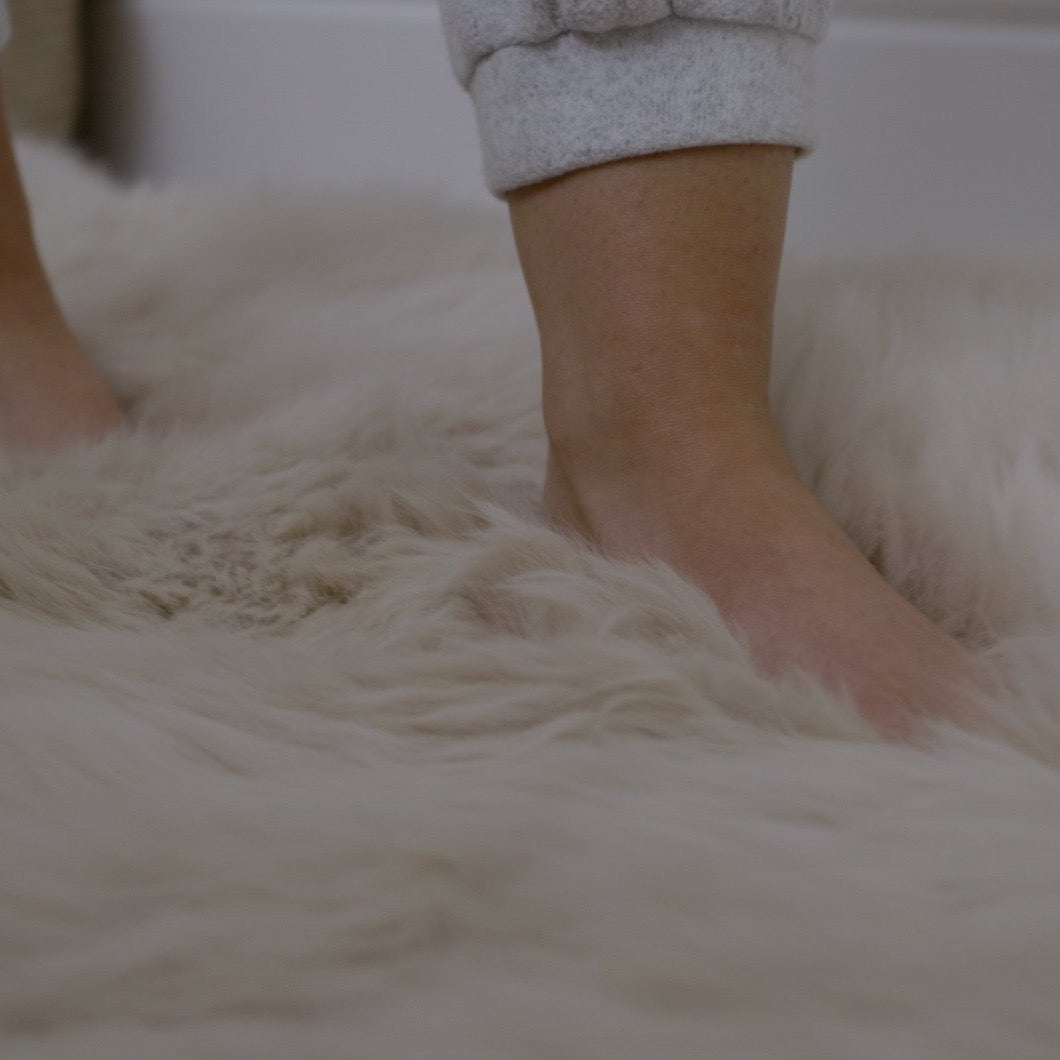 Ethically crafted Double Sheepskin in oyster