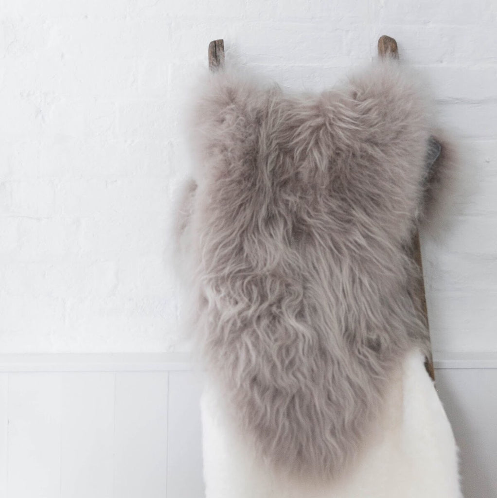 Rarebreed Icelandic Sheepskin in soft taupe