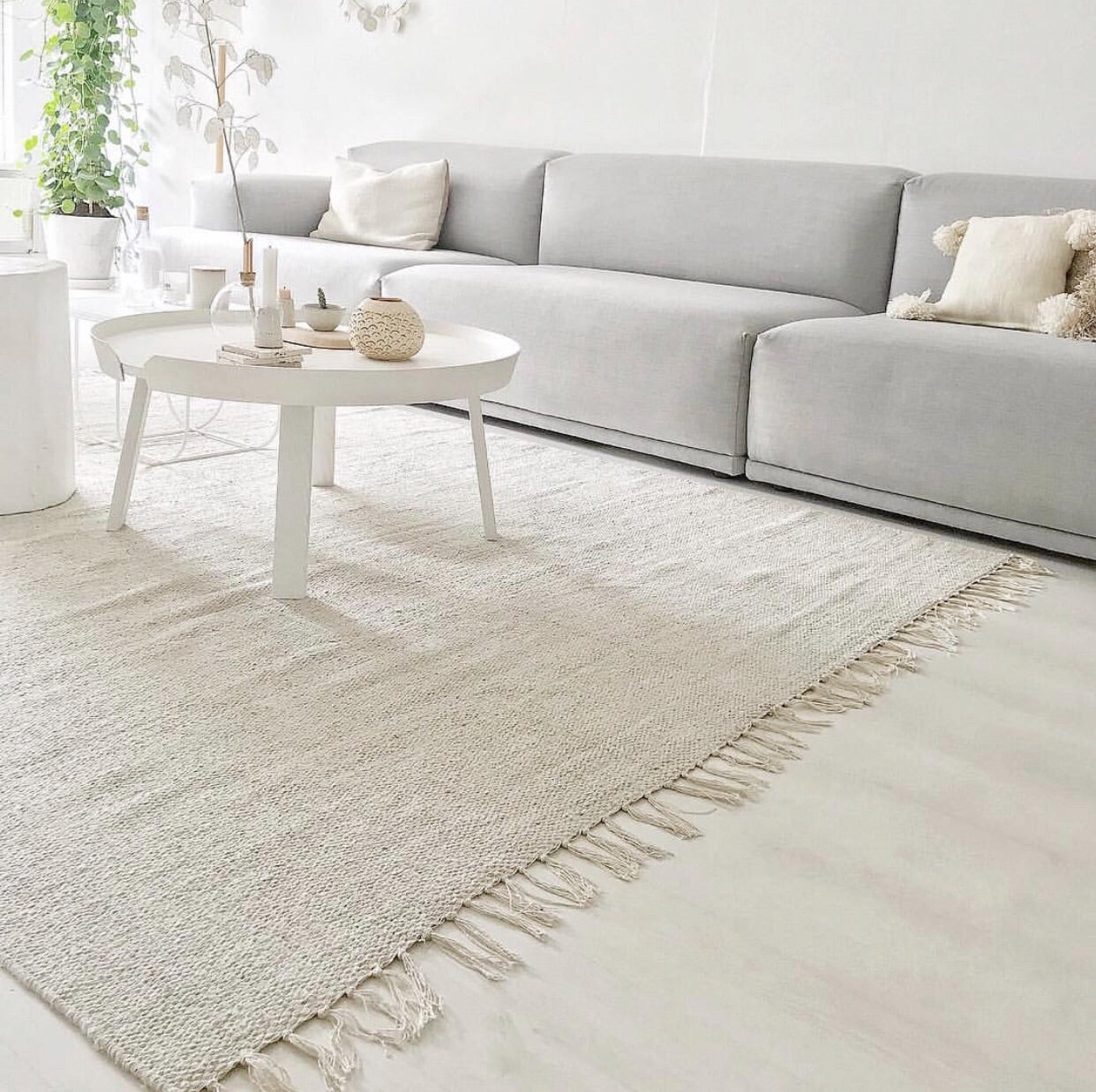 Neutral Scandi Large Cotton Rug