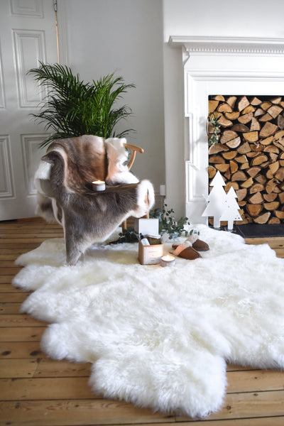 Super Sumptuous Six Foot Sheepskin Rug