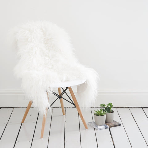 Aria Rare Breed Sheepskin in Ivory