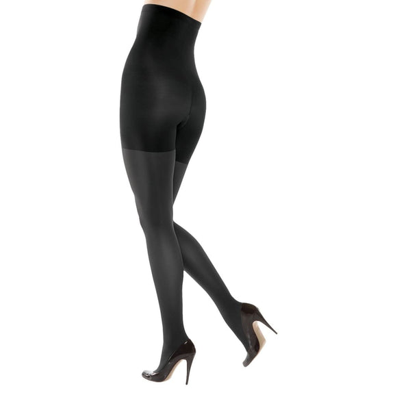 ASSETS 182B by Spanx High-Waist Shaping Tights Size 3 Black NEW IN PACKAGE - Better Bath and Beauty