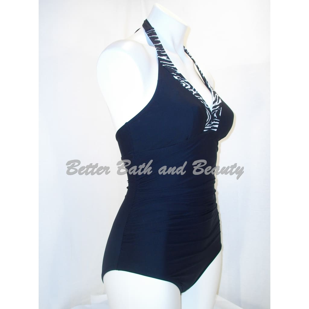 ced195fc45 ... ASSETS by Sara Blakely 1536 One-Piece Halter Swim Suit Small Black -  Better Bath
