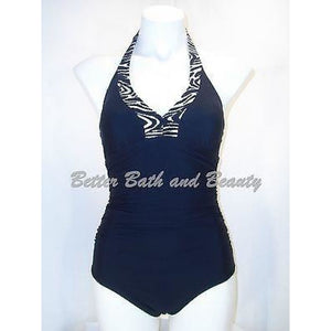 ASSETS by Sara Blakely 1536 One-Piece Halter Swim Suit Small Black - Better Bath and Beauty