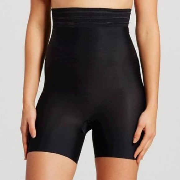 Assets by Spanx 10093 Shaping Micro High-Waist Girl Short Size MEDIUM Black - Better Bath and Beauty