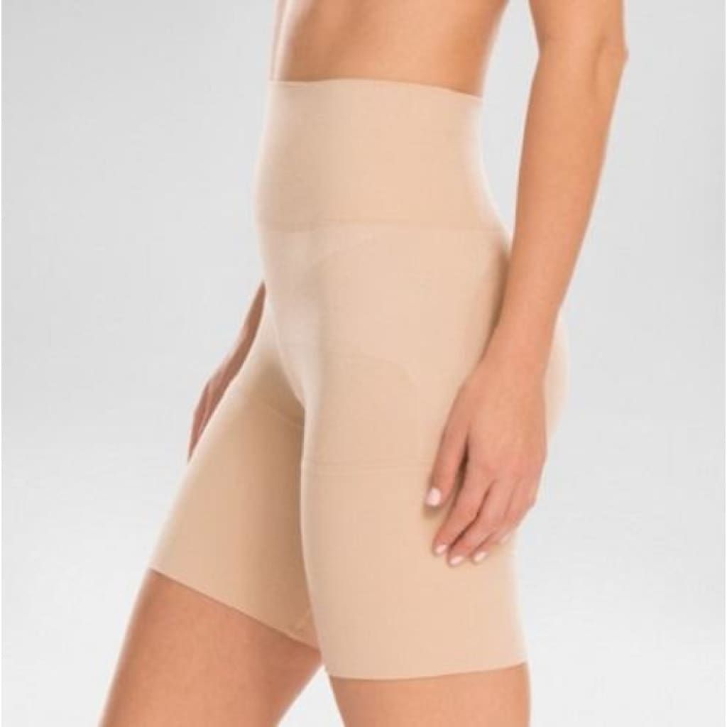 c248550b61 ... Assets by Spanx 10125 Remarkable Results Mid-thigh Shaper Shorts  Shaping Short LARGE Nude -