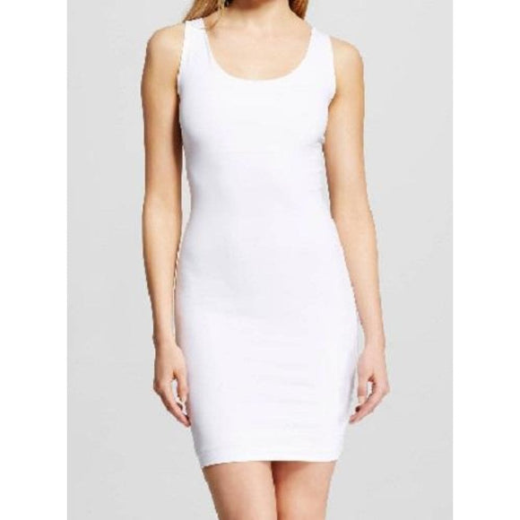 Assets by Spanx FS5915 In or Out Shaping Tank Full Slip 1X White NWT - Better Bath and Beauty