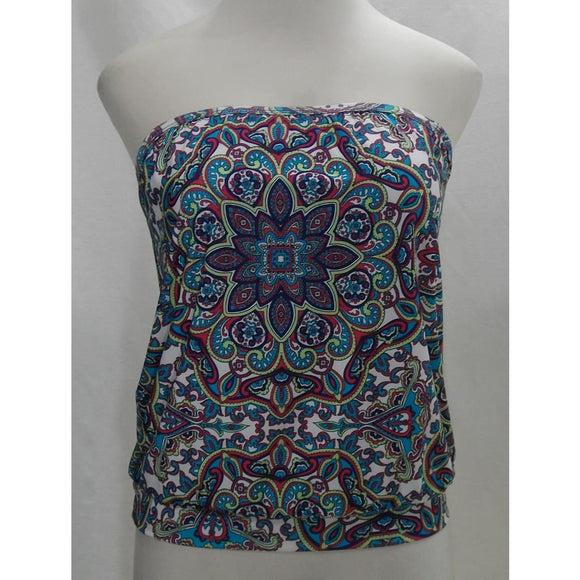 Athena Perfectly Paisley Soft Cup Banded Bandini Tankini Swim Suit Top 6 NWT - Better Bath and Beauty