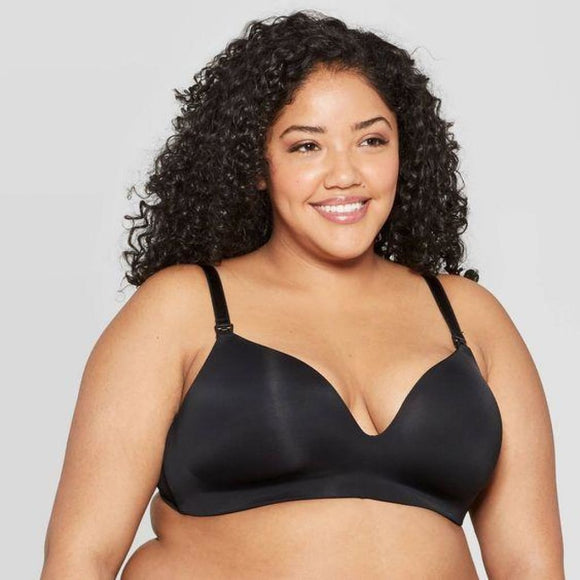 Auden Women's Nursing Wirefree Bra 34C Black NWT - Better Bath and Beauty