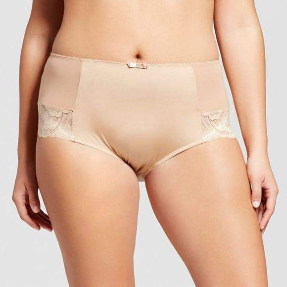 Ava & Viv High Waist Lace Briefs with Lace 3X Honey Beige - Better Bath and Beauty