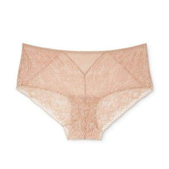 Ava & Viv Plus Size Semi Sheer Lace Hipster 3X Honey Beige - Better Bath and Beauty