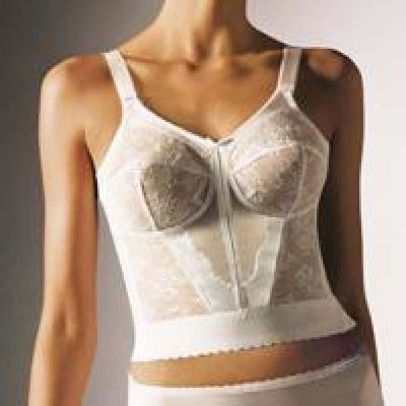 Bali 3300 Sky Bali Longline Wire Free Bra 36D White - DISCONTINUED - Better Bath and Beauty