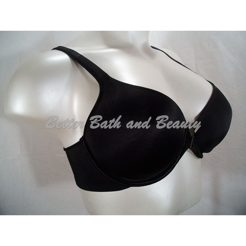 0689241f87f4b ... Bali 3486 One Smooth U Front Close Underwire Bra 42D Black NEW WITHOUT  TAGS - Better ...