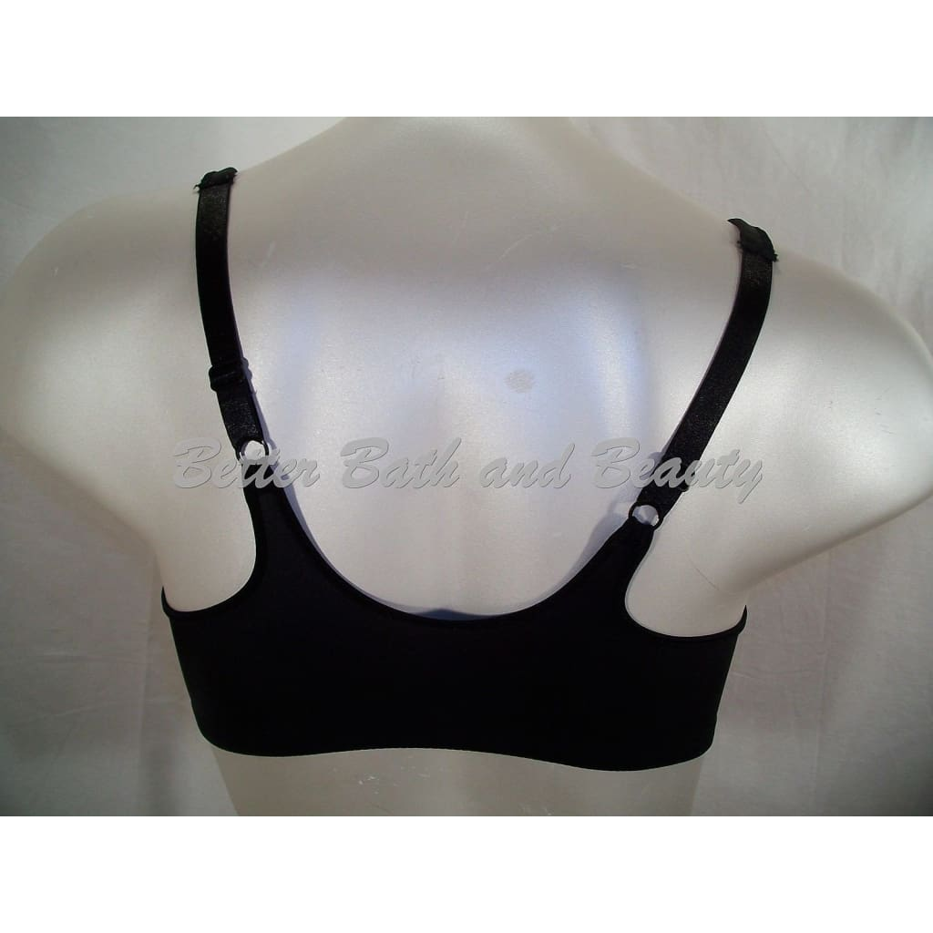 8d271cdf9f1c9 ... Bali 3486 One Smooth U Front Close Underwire Bra 42D Black NEW WITHOUT  TAGS - Better
