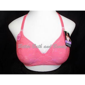 Bali 3550 Convertible Revolution Wirefree Cloud Pattern Bra 38C Coral NWT - Better Bath and Beauty