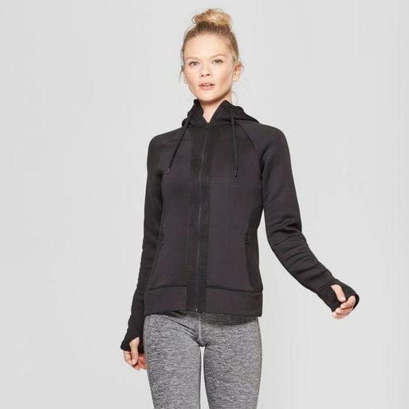 C9 Champion D9327 Womens Run Full Zip Track Jacket SMALL Black NWT - Better Bath and Beauty