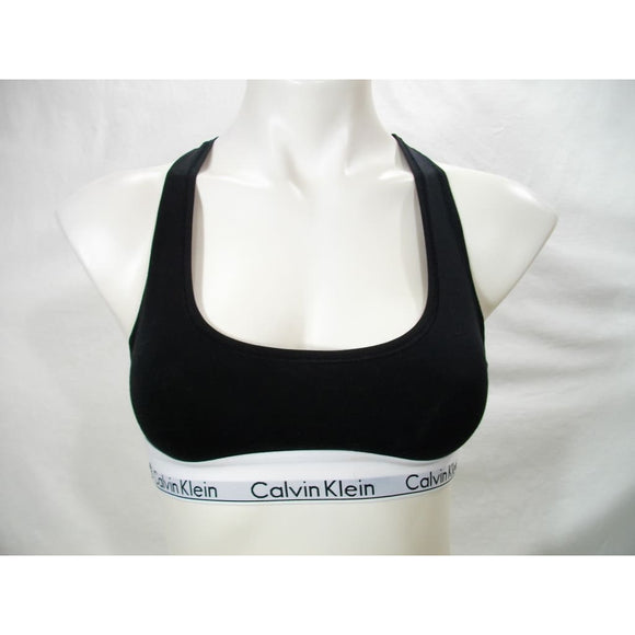 Calvin Klein F3785 Modern Cotton Wire Free Bralette SMALL Black & White NWT - Better Bath and Beauty