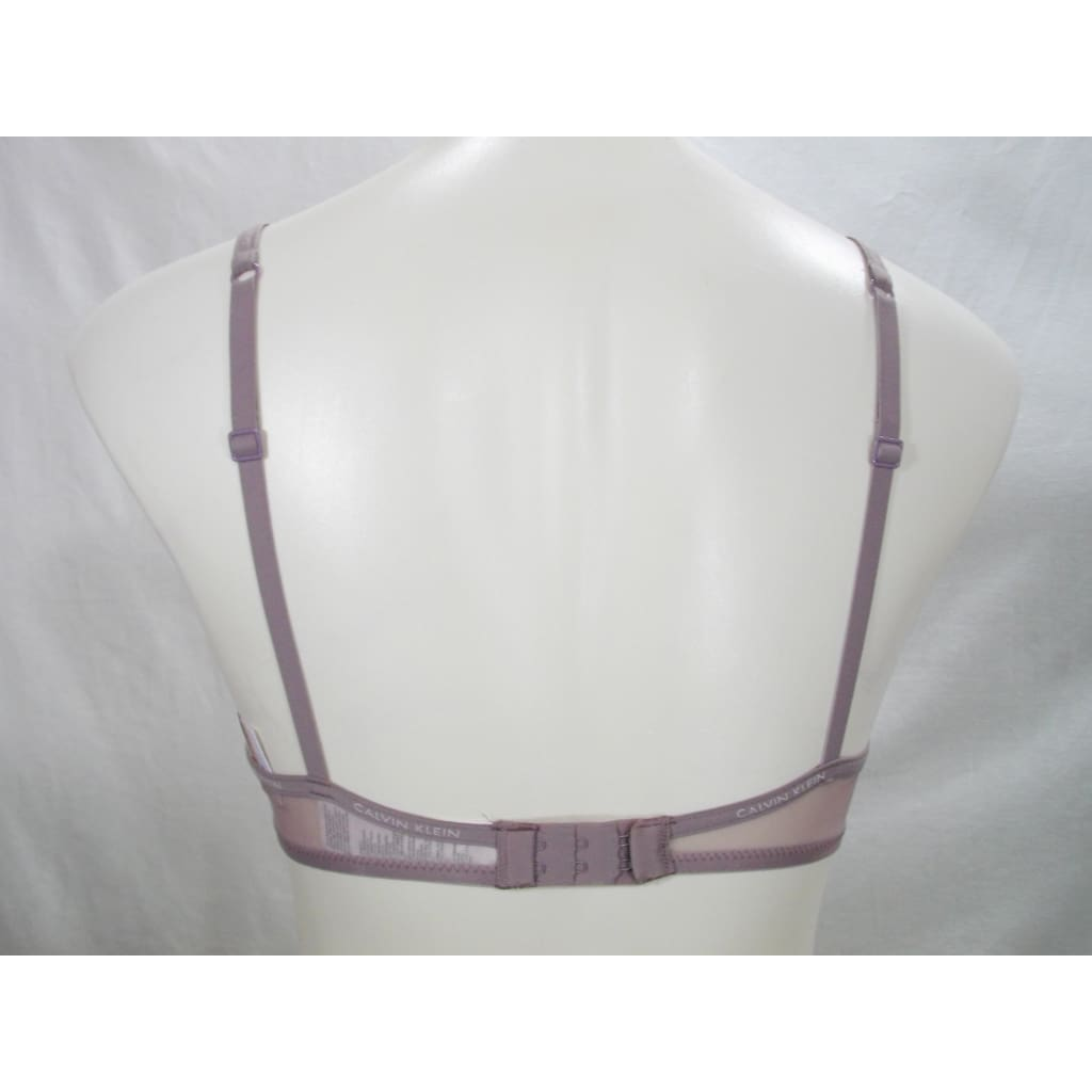 4dcfcefe51b ... Calvin Klein QF1839 Sheer Marquisette Lightly-Lined Demi UW Bra 30B  Violet Dust Mauve NWT